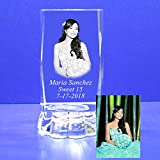 Custom photo (12 PCS) Personalize Laser Engraving favors like baptism, Wedding, First communion, Mi Bautizo, Sweet 16, Quinceañera, Mis 15 Años, Comunión, Graduation, School & Church Events (3''H)