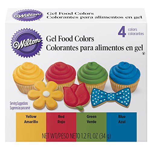Wilton Primary Icing Colors, 4-Piece - Gel Icing Colors -