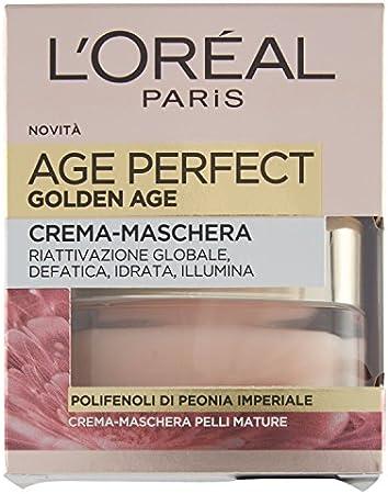 L'Oréal Paris Age Perfect Golden Age Crema Mascarilla Reactivación Global, Pieles maduras, 50 ml