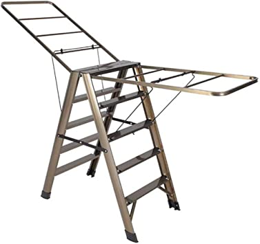 AOLI Escalera de secado de ropa multifuncional, escalera de ...