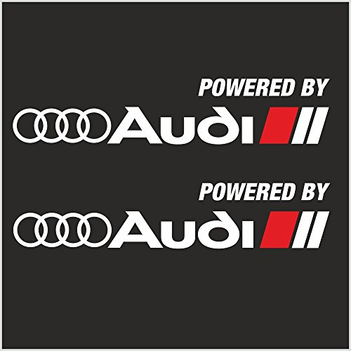 2pcs Powered by Audi Sport Logo Stripes A4 A5 A6 A8 S4 S6 S8 R8 Skirts Decal Sticker M2 (12