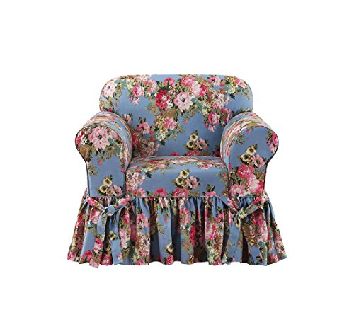 Sure Fit Juliet by Waverly One Piece Chair Slipcover - - Chair Chambray