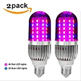OOFAY LIGHT® Led Grow Lights Bulb 60W E27 Corn Lamp Full Spectrum For Indoor Plants Garden Greenhouse Hydroponics (2Pack)