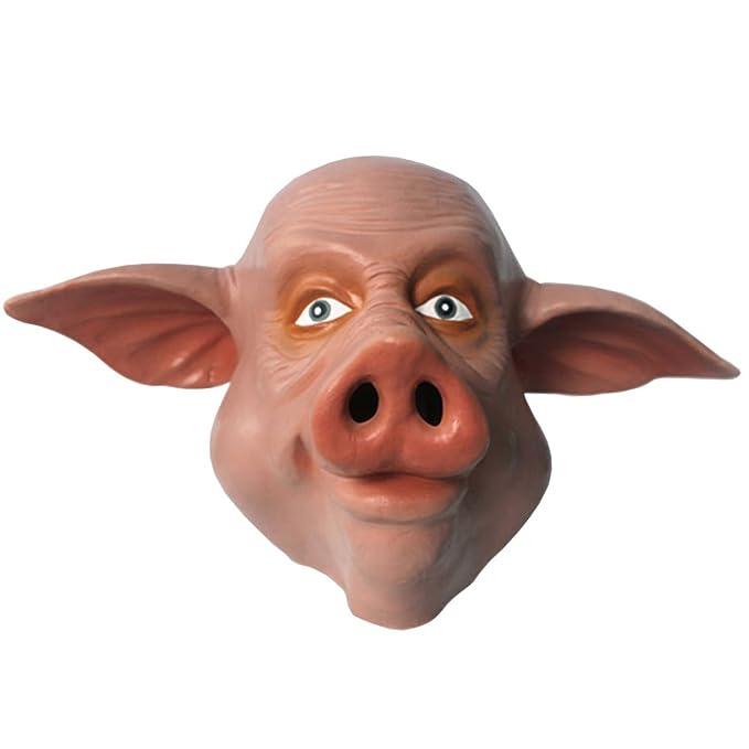 kingmas® Halloween Espeluznante Máscara de látex de cabeza de cerdo