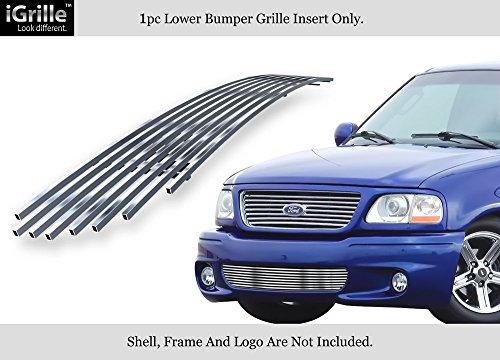APS Fits 99-03 Ford F-150 Lightning Bumper Stainless Steel Billet Grille Insert #F85384C ()