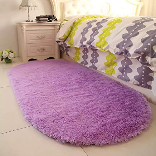 Manta de Mesa de caf/é Cama Color s/ólido Lavable Ovalada Sala de Estar Alfombra de Felpa para Sala de Estar Taloit Dormitorio para el hogar