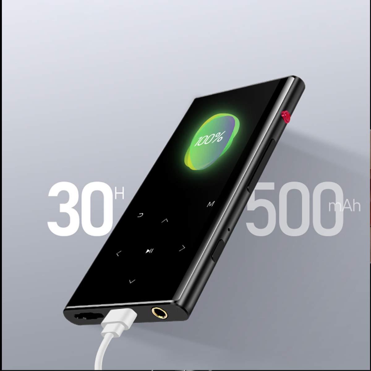 par Walkercam Bouton Tactile Prise en Charge Extensible jusqu/à 64 G enregistreur Vocal /à Une Touche et FM Lecteur MP3 avec Bluetooth