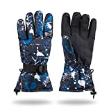 Winter Glove Thinsulate Insulated Lined Windproof Ski Snowboarding Gloves (blue)
