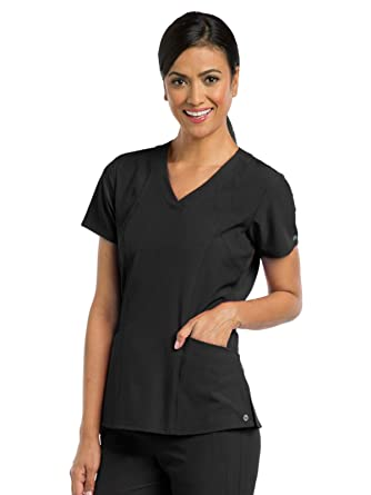 7e9e498b772 Barco One 5105 Women's V-Neck Top Black XXS. Roll over image to zoom in
