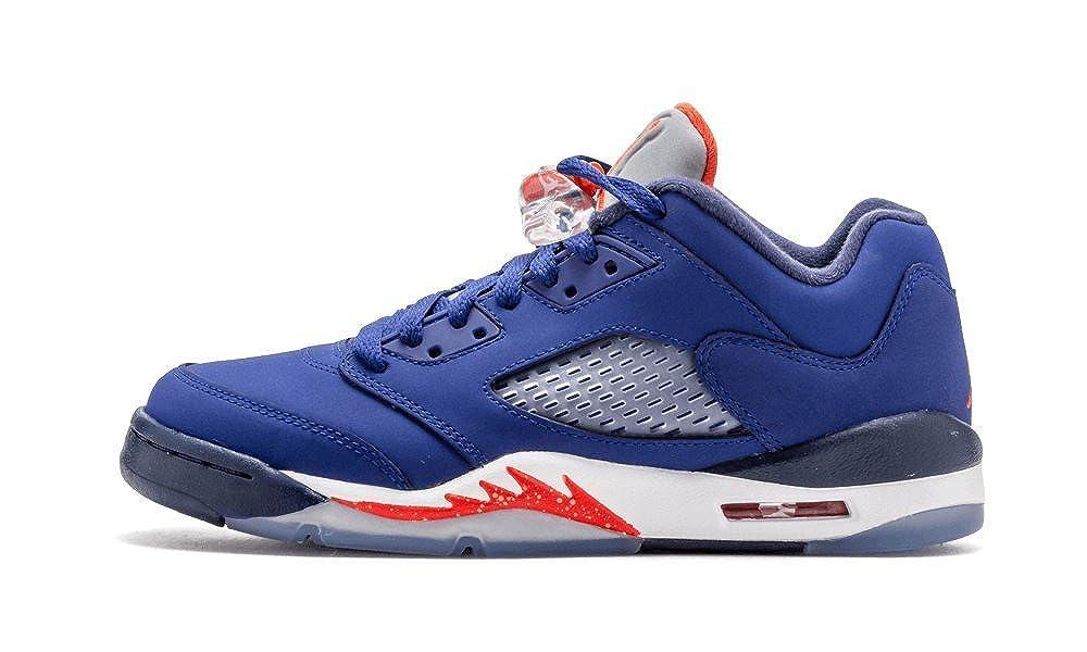 on sale ec9fe 99a46 Amazon.com  NIKE Air Jordan 5 Retro Low GS Kids Basketball Shoes, Deep  Royal Blue Team Orange - Midnight Navy - W, 5Y M US  Shoes