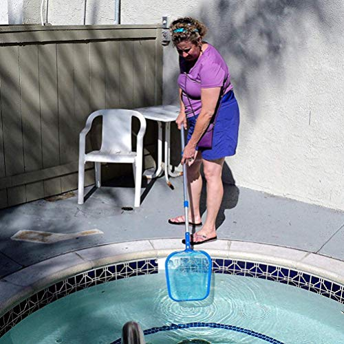 Hot Sale!DEESEE(TM)Professional Leaf Rake Mesh Frame Net Skimmer Cleaner Swimming Pool Tool (A:105cm)
