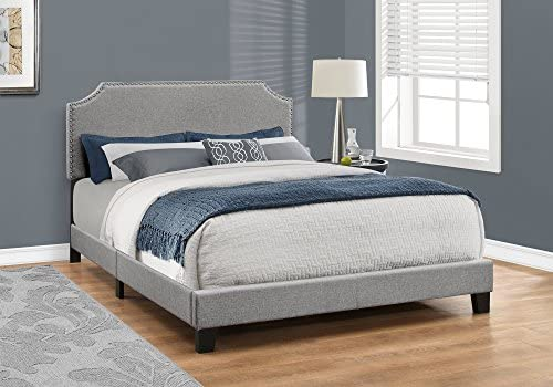Monarch Specialties Bed Frames, Queen, Grey