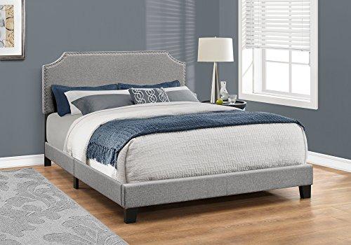 Monarch Specialties Bed Frames, Queen, Grey