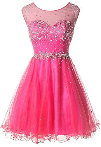 Plus size Watermelon Red sheath Tulle Junior evening prom dress X177 Watermelon Red 16