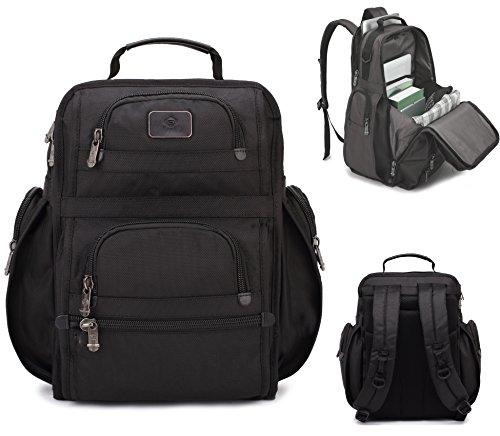 "Bonvince 18.4"" Laptop Backpack Multifunctional Luggage Travel Bags Knapsack Hiking Bags Students School Shoulder Backpacks Fits Up to 18.4 Inch Laptop Macbook Computer Black"