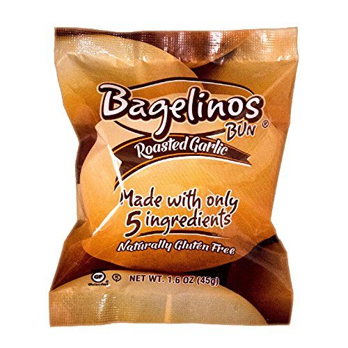 Bagelinos Bun Roasted Garlic, Gluten-Free, 1.6 OZ each, Box of 15