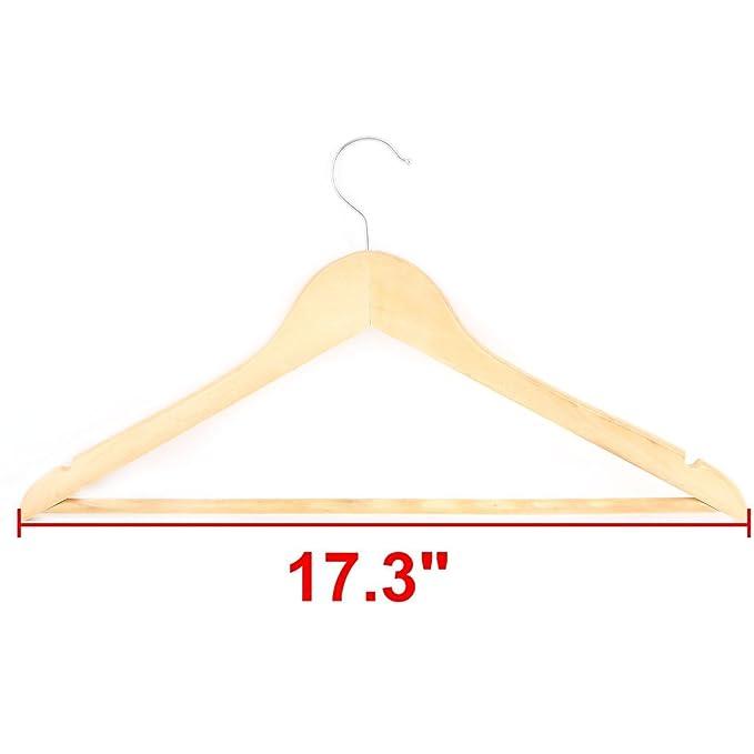 Amazon.com: eDealMax Exterior antideslizante Diseño Calcetines capa de la Chaqueta de Traje perchero Percha de Madera de Color: Home & Kitchen