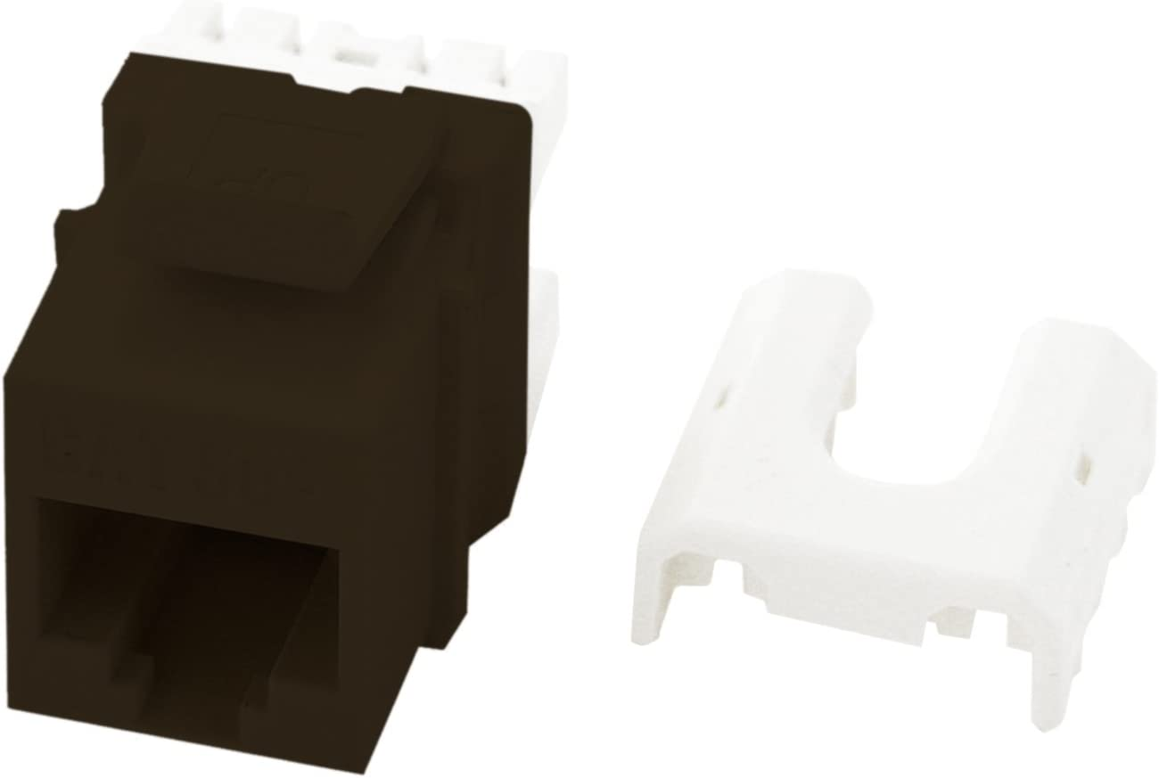 Brown Legrand On-Q WP3475BR Cat5e RJ45 Quick Connect Keystone Insert with 110 Punch-Down