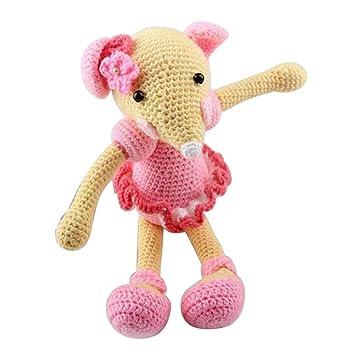 Baoblaze Häkelset Amigurumi Häkeln Anfänger Maus Puppe