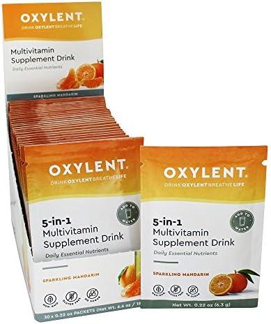 Vitalah, Oxylent, Multivitamin Supplement Drink, Sparkling Mandarin, 30 Packets, 0.23 oz 6.4 g Each