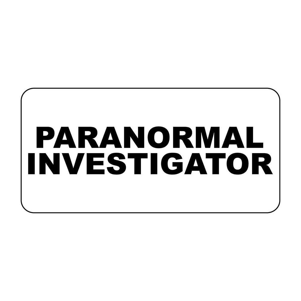 NewFDeals Paranormal Investigator Retro Vintage Style Metal Plate Gift Sign - 8 x 12 inchesfor Home/Man Cave Decor