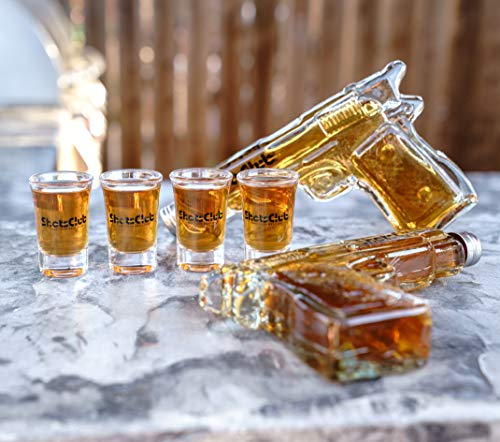 ShotsClub Gun Decanter with Shot Glasses - Ultimate Adult Party Accessories Includes 2 Gun Liquor Decanters, 8 Shots Glasses, and Carrying Case by ShotsClub (Image #7)