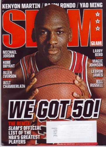 Aug 2009 *SLAM* Basketball Magazine: Featuring, MICHAEL JORDAN & Slam's Official List of the NBA's 50 Greatest Players