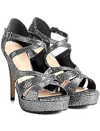 Sandália Couro Shoestock Meia Pata Cruzada Feminina