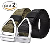 FAIRWIN Nylon Tactical Web Belt for Men, Military Style Casual Canvas Webbing Buckle Belt