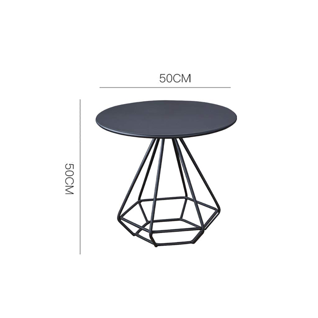 Garde Side Table, Simple Mini Bedroom Modern Home Small Coffee Table, Iron Creative Casual Negotiation Small Table (Color : A, Size : 5050CM) by Garde