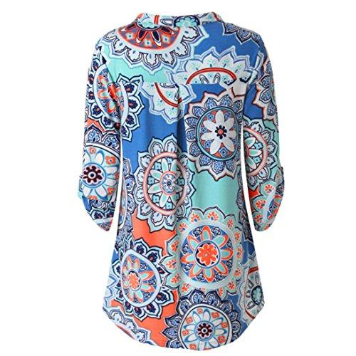 Camisas Mujer,ZARLLE 2018 Sudadera De Manga Larga para Mujer De Moda Blusa Casual Tops Cuello V Blusa De Mujer: Amazon.es: Ropa y accesorios