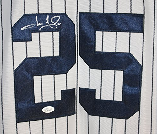 Jason Giambi New York Yankees Signed Autographed White Pinstripe #25 Jersey JSA COA