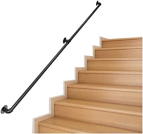 Pasamanos Escalera Baranda de escalera Kit completo, edad avanzada forjado industrial del hierro Escaleras Pasamanos barandilla carril for el hogar cubierta 30-300cm pasillo al aire libre Loft Balaust: Amazon.es: Hogar