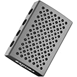 COMISO Portable Wireless Bluetooth Speaker with Built-in-Mic Handsfree Call AUX Line HD Sound and Bass, A - Space Gray / Black
