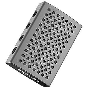 Haut-parleur Bluetooth, COMISO [Auréole Audio] [Gris sidéral] – [luxe aluminium] [étanche] Bluetooth 4.0 ultra mini haut-parleur portable, Enceinte de douche sans fil intégrée avec 5W Bass Pilotes microphone appel
