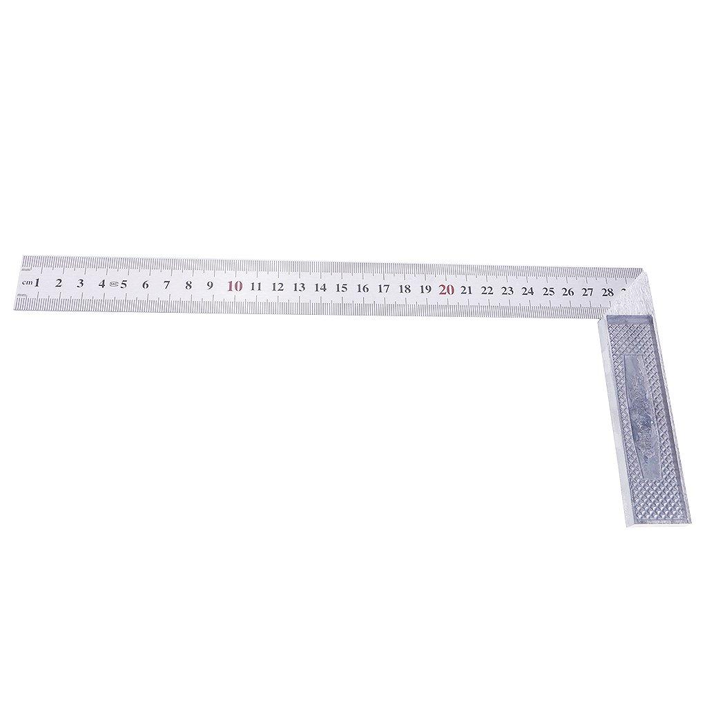 Homyl 90-Grad-Winkeln Quadrat Edelstahl Ma/ßstab Lineal Ingenieur Zimmermann Holzarbeiten Werkzeuge