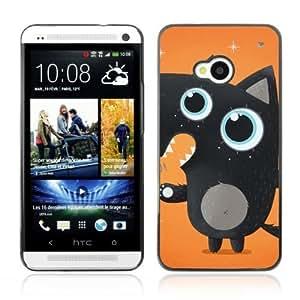 YOYOSHOP [Cute Black Fox] HTC One M7 Case