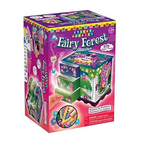 Orb Factory Sticky Mosaics Kit, Fairy Forest Jewelry Box (Fairy Forest)