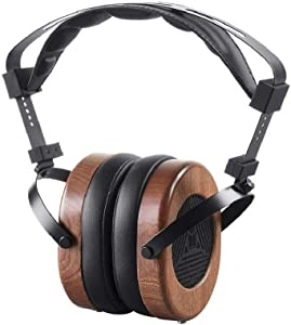 Monolith M565 Over Ear Planar Magnetic Headphones - Black/Wood With 66mm Driver, Open Back Design, Removable Comfort Earpads For Studio/Professional