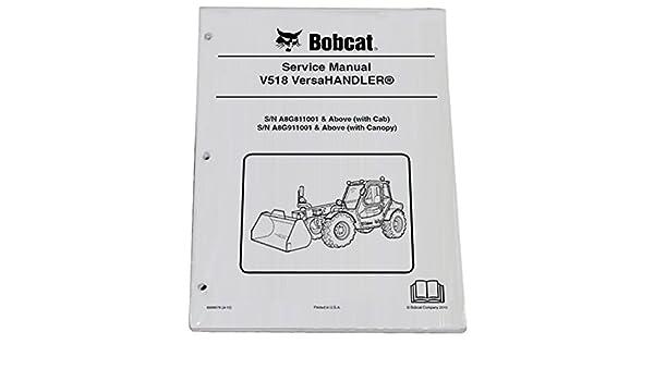 Amazon.com: Bobcat V518 Telehandler Repair Workshop Service Manual