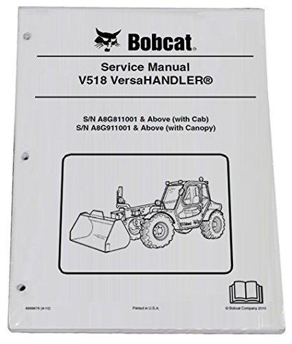 amazon com bobcat v518 telehandler repair workshop service manual rh amazon com Bobcat VersaHandler Bobcat V518 VersaHandler