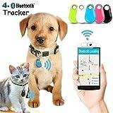 Smart Wireless Bluetooth Tracer 4.0 GPS Locator Alarm Mini Tag for Anti-Lost Anti-Theft - Pet Dog Tracker Smart (Green)