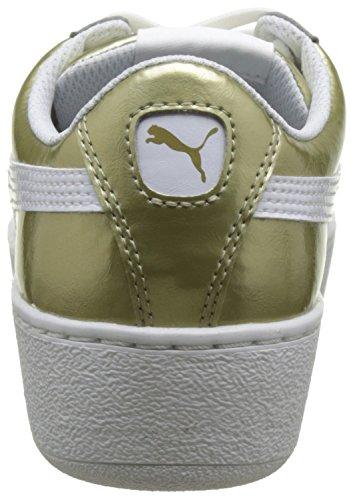 Puma Vrouwen Vikky Platform Mode Sneaker Goud