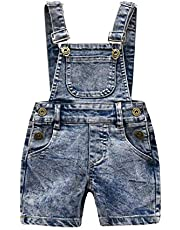 KidsCool Little Girls Boys Fashion Big Bibs Jeans Shortalls