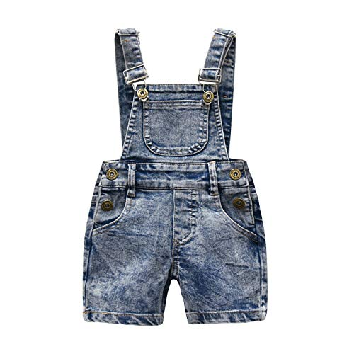 Kidscool Little Girls Boys Fashion Big Bibs Jeans Shortalls,Light Blue,2-3 Years by Kidscool