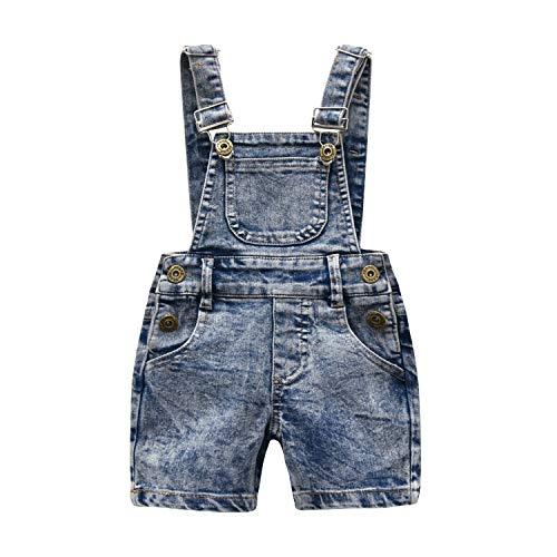 Kidscool Girls Ripped Big Bibs Denim Overalls Dress
