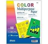 BAZIC 80 Ct. Multi Color Multipurpose Paper
