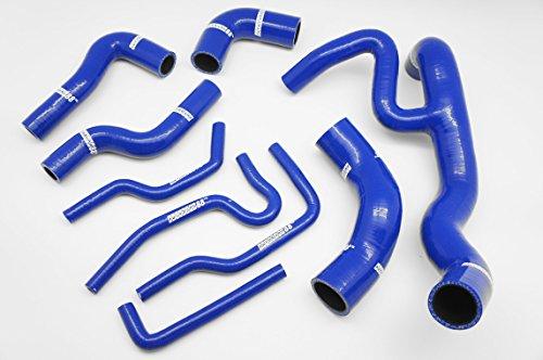 Autobahn88 Radiator Coolant & Heater Silicone Hose Kit for 1999-2003 Volkswagen VW Golf MK4 VR6 12V (Blue -without Clamp Set)