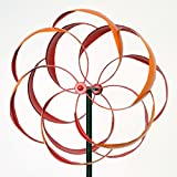 Bits and Pieces - Flower Wind Spinner - Magnificent Weather Resistant Metal - Beautiful Outdoor Lawn and Garden Décor