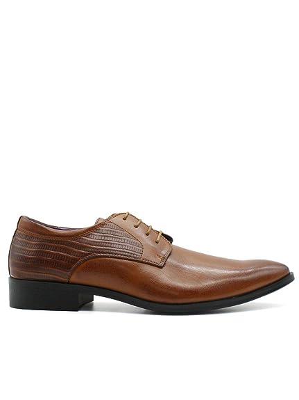 Homme Chaussures Marron Kebello Lézard Aspect y7gfYb6